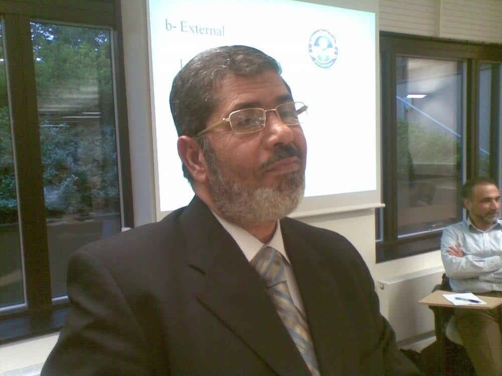 Islamilaista yhteiskuntaa Egyptiin ajava Muhammed Morsy esiintyi Oxfordissa.